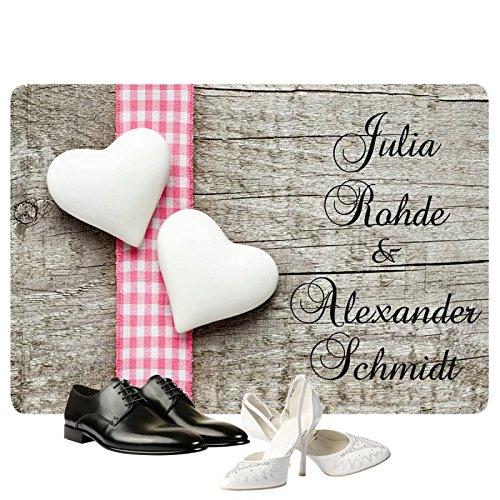 Personalisierte Fußmatte Romantik - Fußmatten mit Namen bedrucken
