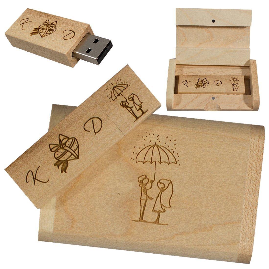Personalisierter 8GB Samsung Flashitall Eco Holz USB-Stick USB 2.0 Memory Stick