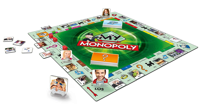 Hasbro - My Monopoly, Familien-Brettspiel, deutsche Version