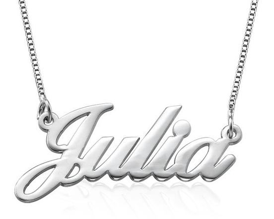 925er Silber Namenskette in Schreibschrift - Personalisiert mit Ihrem eigenen Wunschnamen!